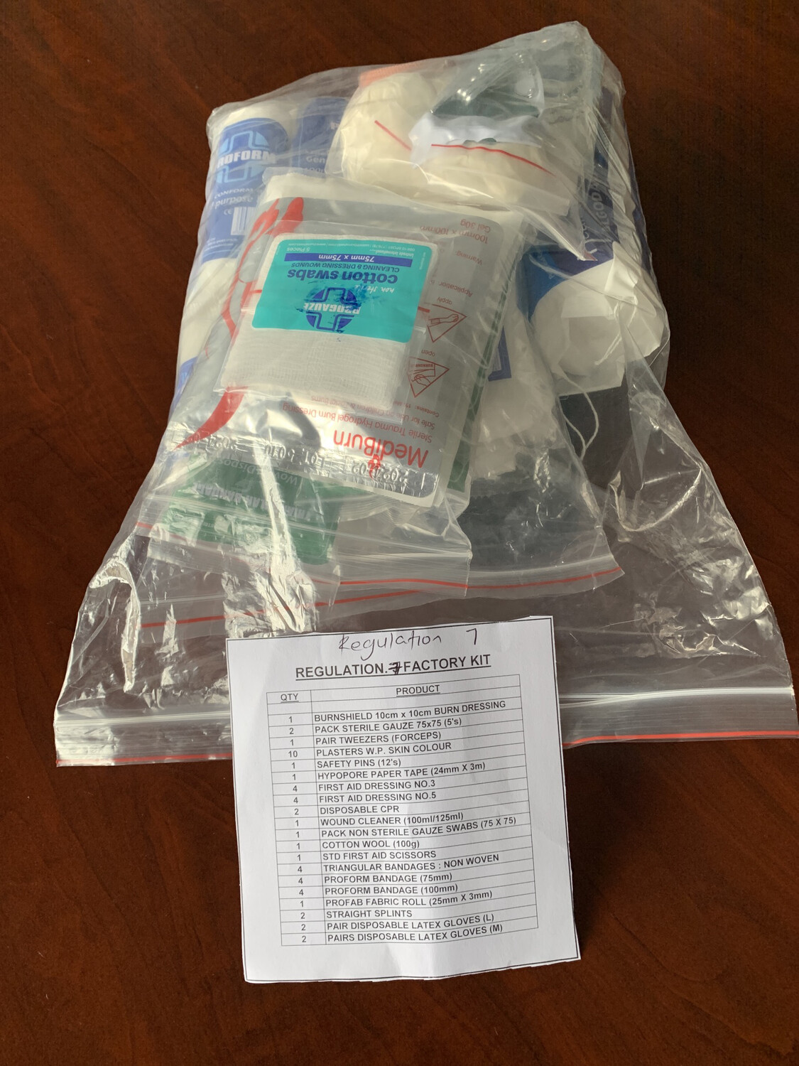 First Aid Regulation 7 Refill Kit