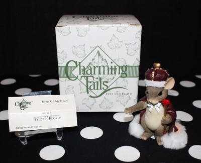 Charming Tails by Fitz & Floyd King of My Heart Mouse Figurine #84/113 in Box