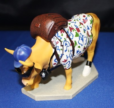 """Cow Parade """"Out of Cow Towner"""" 1/3495 Retired Figurine #9121"""