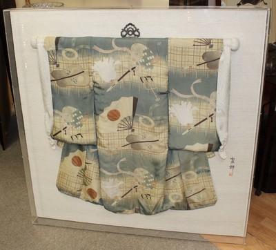 Vintage Jia Na Japanese Boys Silk Kimono in 45