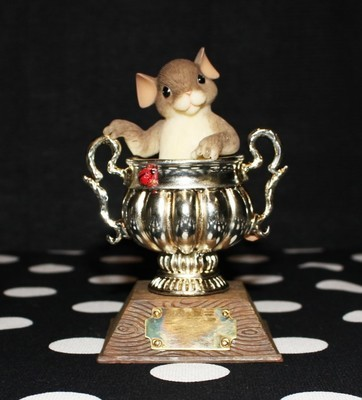 Charming Tails Fitz and Floyd You're A Real Winner Figurine #98/389 in Box
