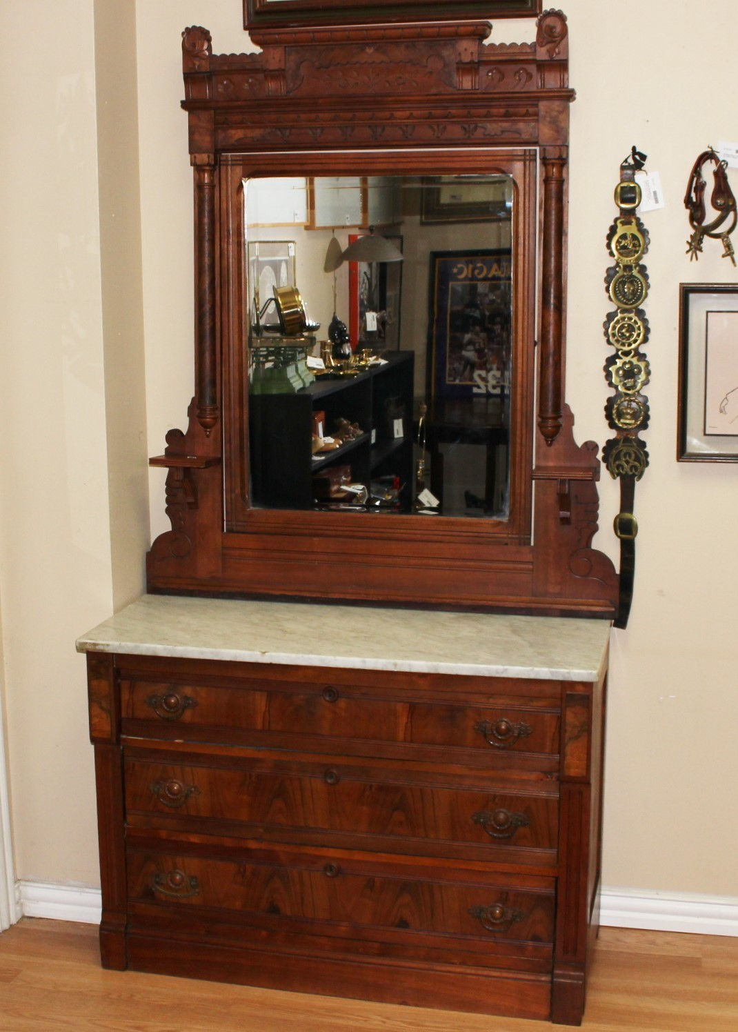 Antique Eastlake Walnut Marble Top Dresser W Mirror,How To Get Rid Of Sugar Ants In House