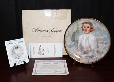 """Hamilton """"Princess Grace"""" 1983 Limited Edition Collectors Plate in Original Box"""