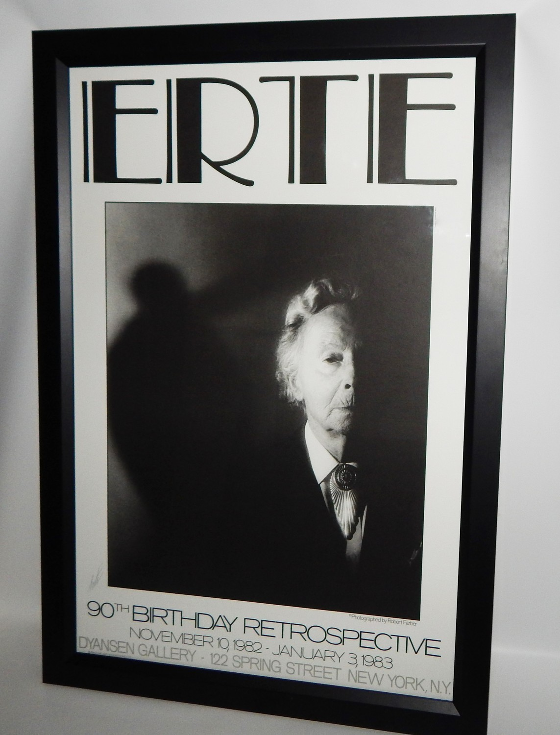1982 ERTE (SIGNED) 90th Birthday Party 36x24 Framed Poster by Robert Farber