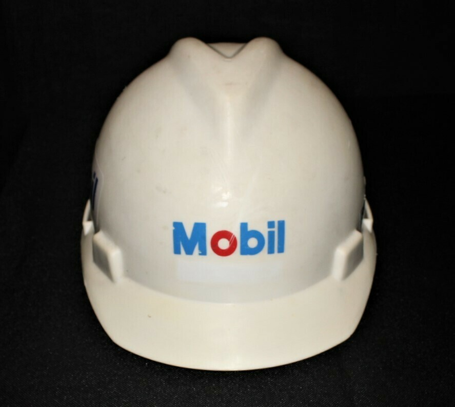 Vintage Original Mobil Oil Gas MSA Certified Size Medium Hard Hat