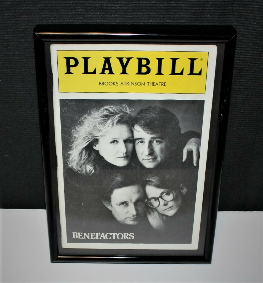 PLAYBILL 1986 Benefactors Framed Brooks Atkinson NY Broadway Theatre Program