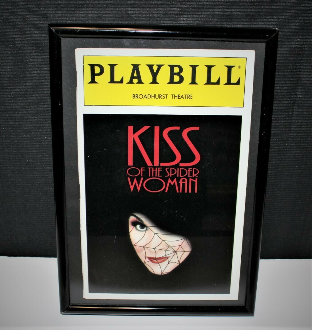 PLAYBILL 1993 Kiss of the Spider Woman Framed NY Broadhurst Theatre Program