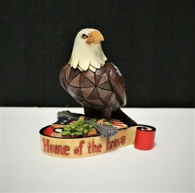 Jim Shore Miniature Home of the Brave Patriotic Eagle Heartwood Creek Figurine