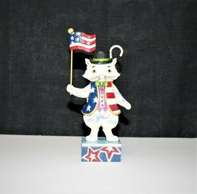 Jim Shore 2013 Freedom Fur-Ever Patriotic Cat Heartwood Creek Figurine #4036325