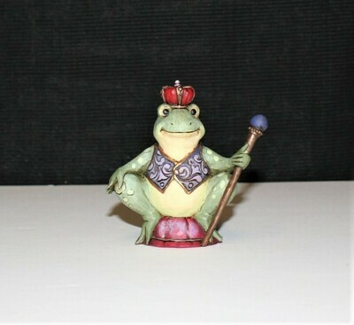 Jim Shore Miniature Frog Prince Heartwood Creek Enesco Figurine #4021440