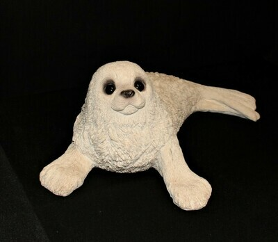 "Animal Classics HARP SEAL by United Design 17"" Stone Sculpture Figurine CC-272"