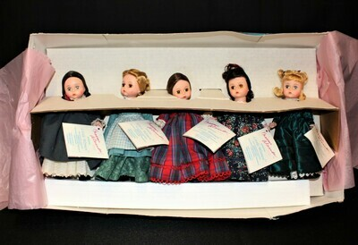 Madame Alexander Little Women 5 Doll Set Marme, Meg, Jo, Beth & Amy w/Tags & Box