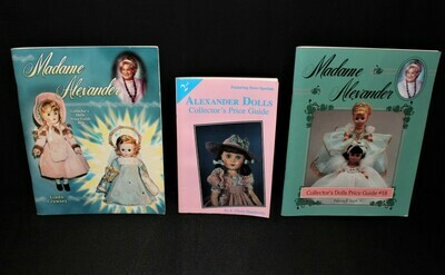 Set of 3 Madame Alexander Dolls Price Guide #2, #18 and #24 Paperback Books