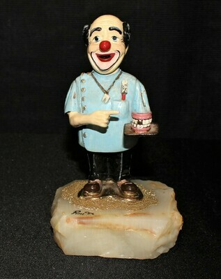 Ron Lee 1986 Dr. Timothy Decay Dentist Clown Sculpture Figurine #459, Signed