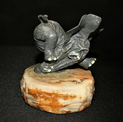 Ron Lee 1991 Watch Your Step Elephant Sculpture Limited Edition 825/2500, Signed