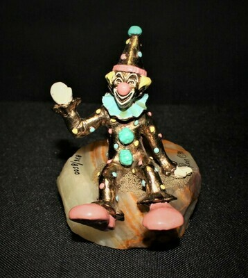 Ron Lee 1991 New Pinky Sitting Clown Sculpture #L-230, Limited Edition 876/8500