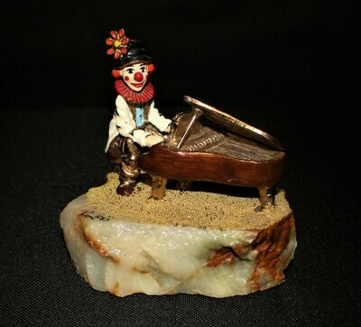 Ron Lee 1983 Clown Playing the Piano Sculpture Figurine, Signed