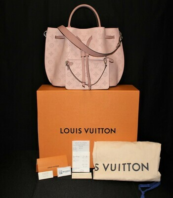 100% Auth Louis Vuitton Girolata Mahina Magnoili Pink Bag and Pouch with Receipt