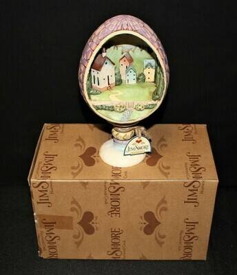 Jim Shore Small Town Big Blessings Easter Egg Church Diorama Figurine #4007545