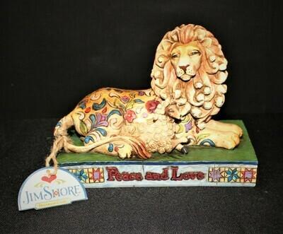 Jim Shore 2006 Peace and Love Lion w/ Lamb Heartwood Creek Figurine #C4005324