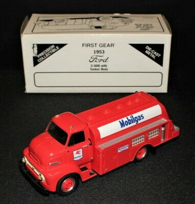 Mobilgas 1953 Ford C-600 First Gear Red Tanker Truck in Box