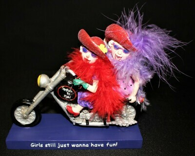 Westland 2004 Red Hat Society Born to Ride Motorcycle Figurine #13424