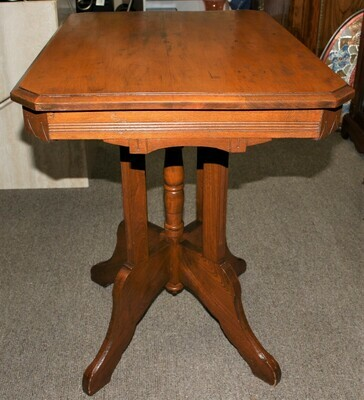 Antique Eastlake Victorian Solid Carved Walnut Parlor Side Table