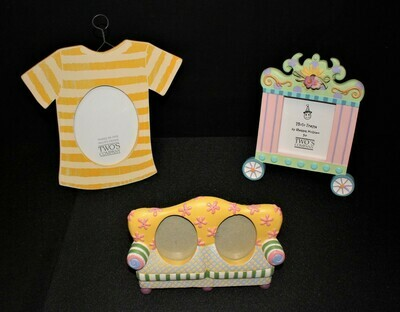 Set of 3 Two's Company Circus, Sofa, T-Shirt Picture Frames by Shannon McGraw