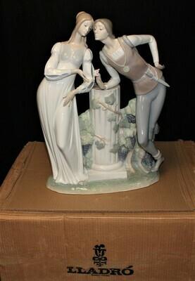 "Lladro Large 17"" Romeo & Juliet Porcelain Gloss Finish Figurine #4750 in Box"