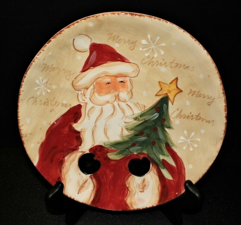 Maxcera Woodland Santa Hand Painted 8.25