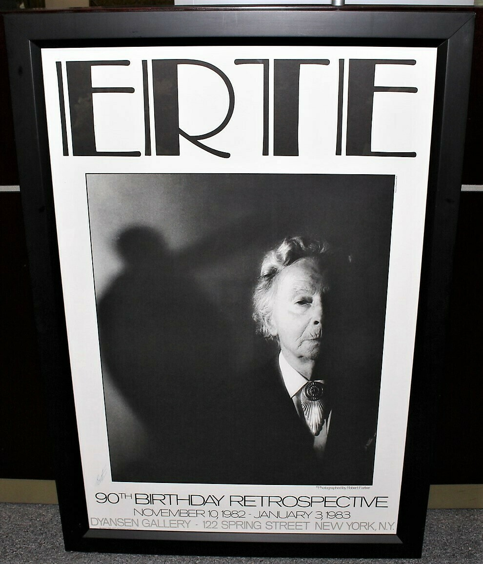 Hand Signed by ERTE 90th Birthday Party 1982 Framed Print
