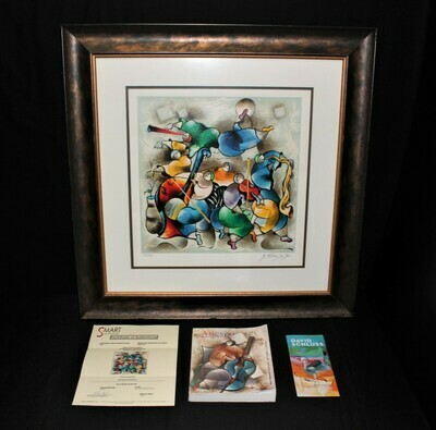 David Schluss Orchestra Pop Freedom Limited Edition Serigraph and Book, Signed