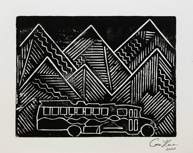 Signed Woodcut Print