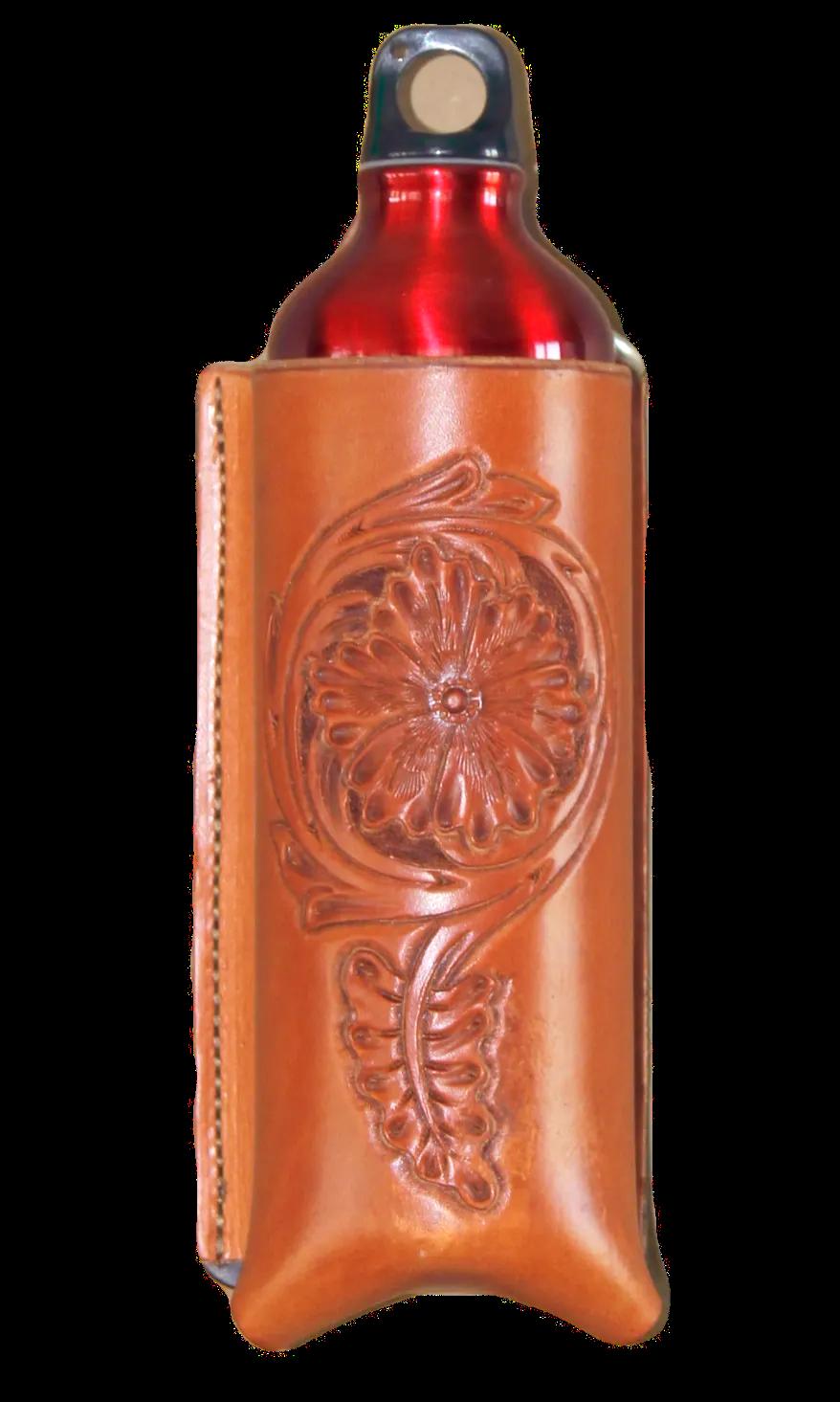 Floral cinch bottle holder