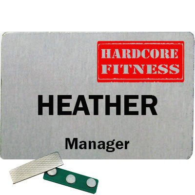Hardcore Fitness Employee Name badge