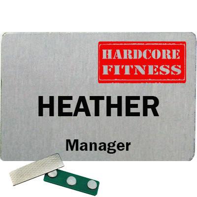Hardcore Fitness Employee Name badge