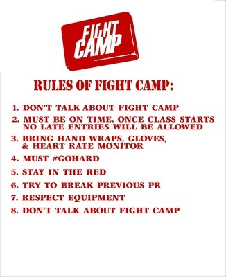 Fight Camp Decal