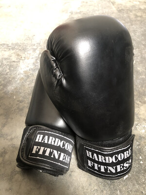 Black Fight Camp Boxing Gloves