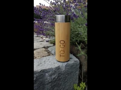 Thermoflasche  für Tee & Kaffee mit individueller Gravur