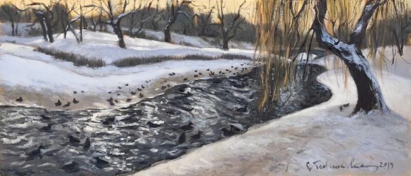 Zima w Parku Moczydło 2 z RAMĄ