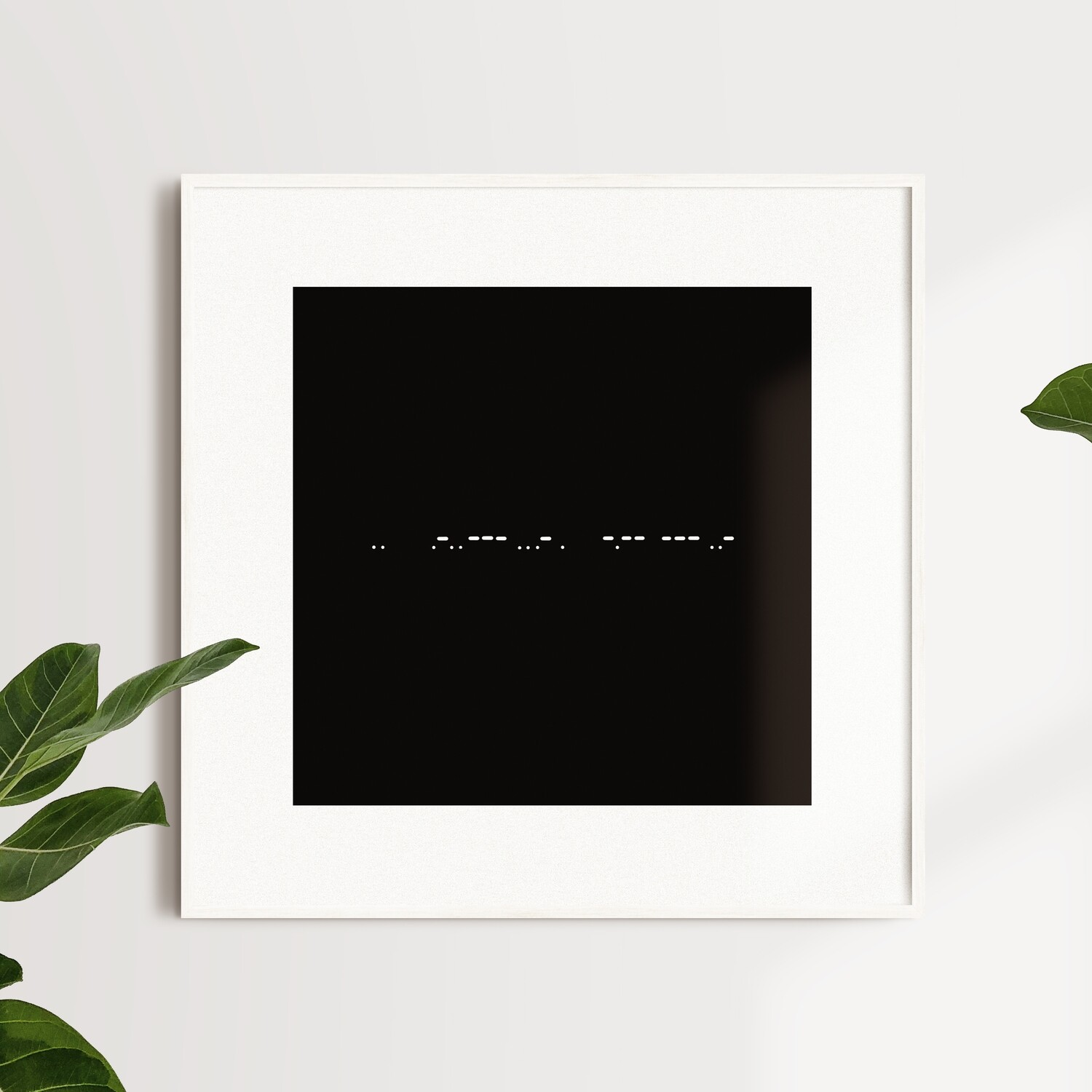 """I Love You""  Morse Code Poster"