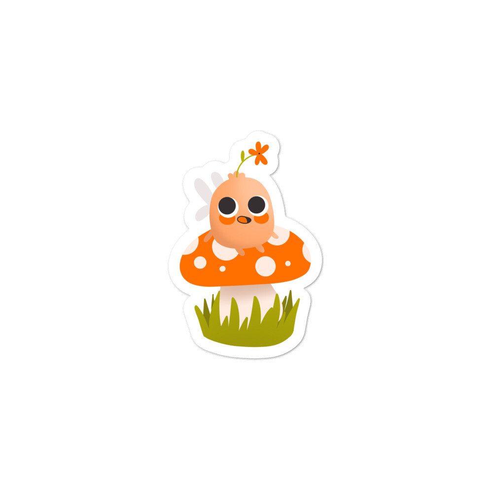 Mental Health Fairy Mushroom Sticker