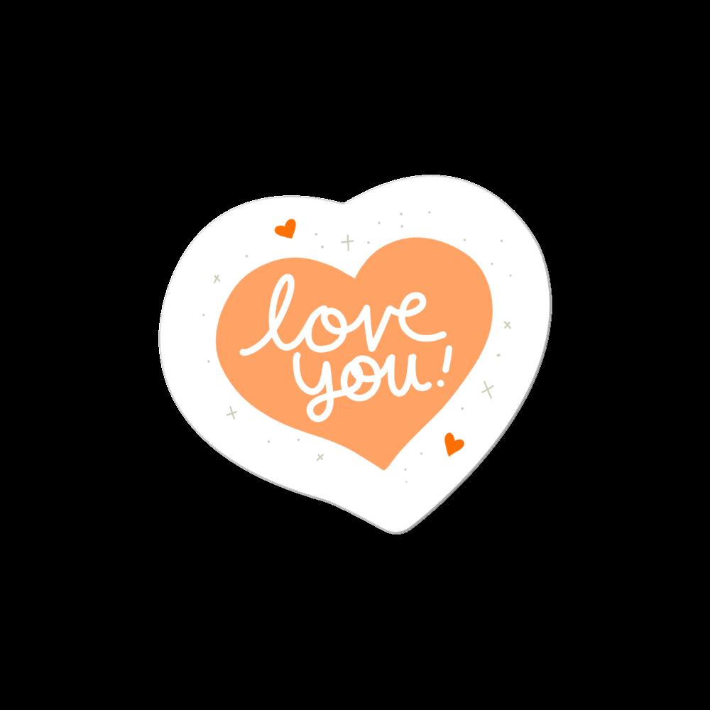 """""""I Love You"""" Die- Cut Sticker"""