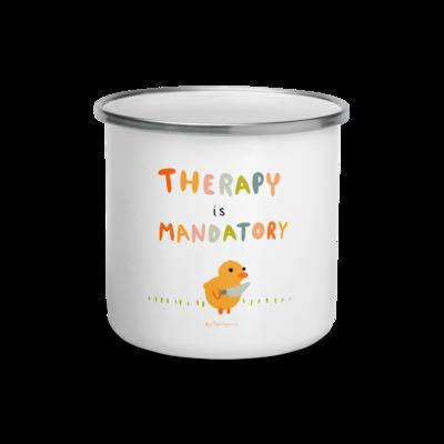 Therapy is Mandatory - Enamel Mug