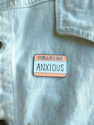 Hello I'm Anxious Soft Enamel Pin