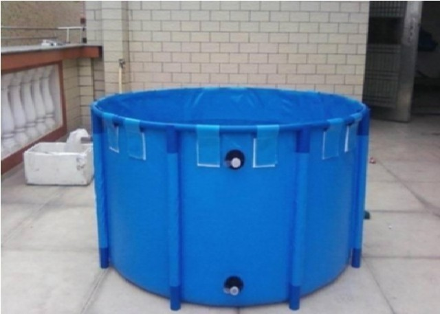 """Foldable Round Koi Show Tank ,- [425 gal.] 63 """" x 31.5 """".   Vinyl LinerLiner is UV resistant"""