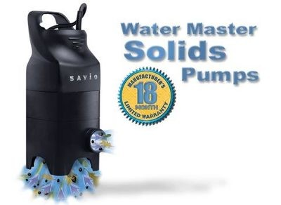 Water Master Solids Handling Pumps Features Our Best Selling 2 year warranty Pumps!