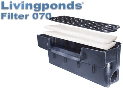 "Livingponds Filter 070 Ponds up to 1,500 Gallons 16"" spillway"