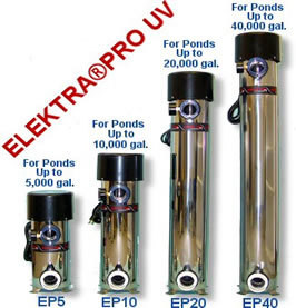 Elektra Pro UV Light EP 20 Ponds up to 20,000 Gallons,