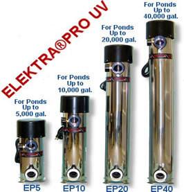Elektra Pro UV Light EP 40 Ponds up to 40,000 Gallons.